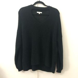 Cutout black sweater